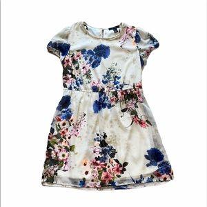 Forever 21 cream floral dress size medium